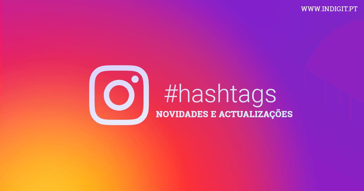 Instagram divide hashtags das descrições para evitar demasiado texto