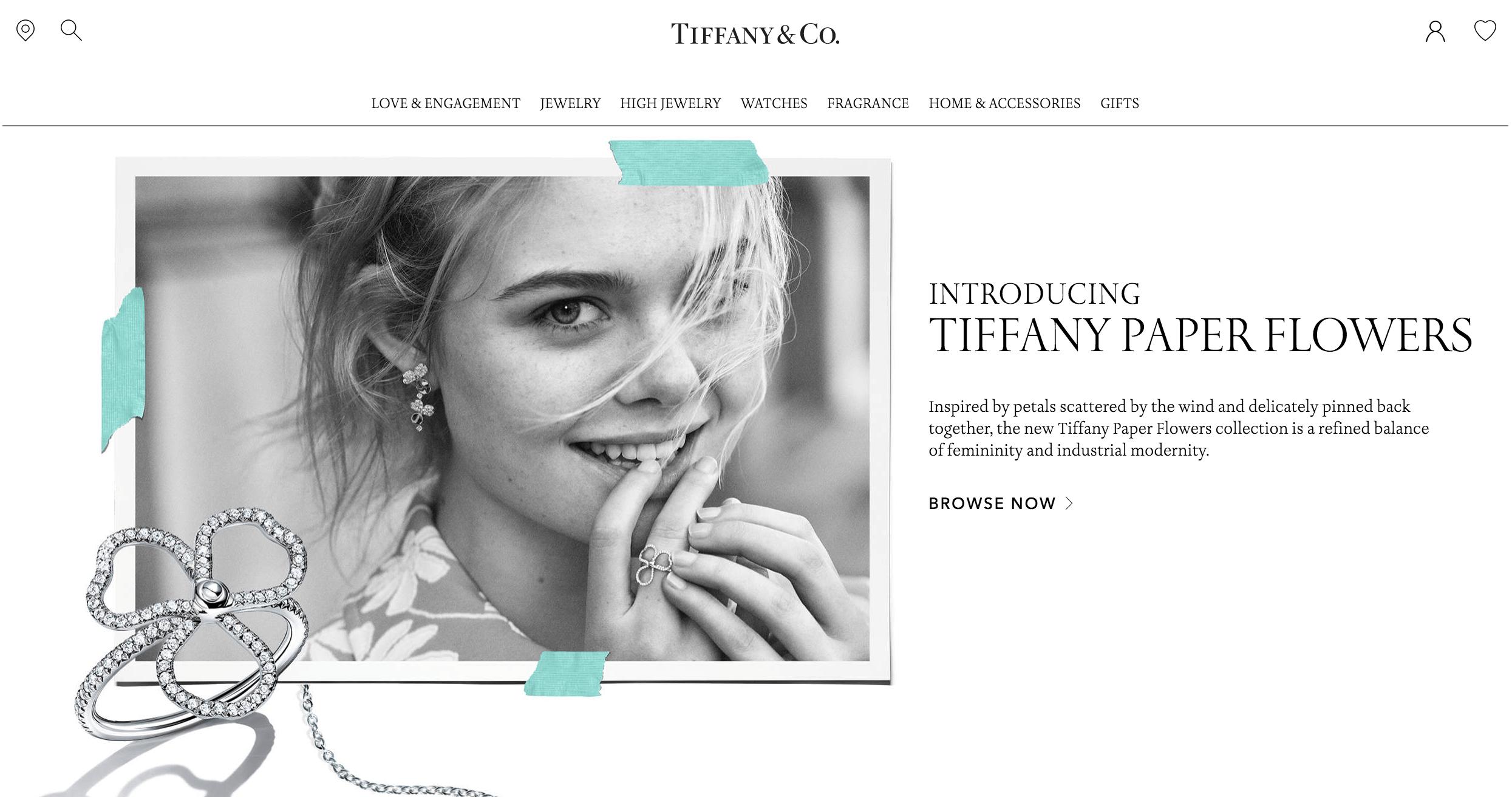A Tiffany só usa imagens em alta resolução