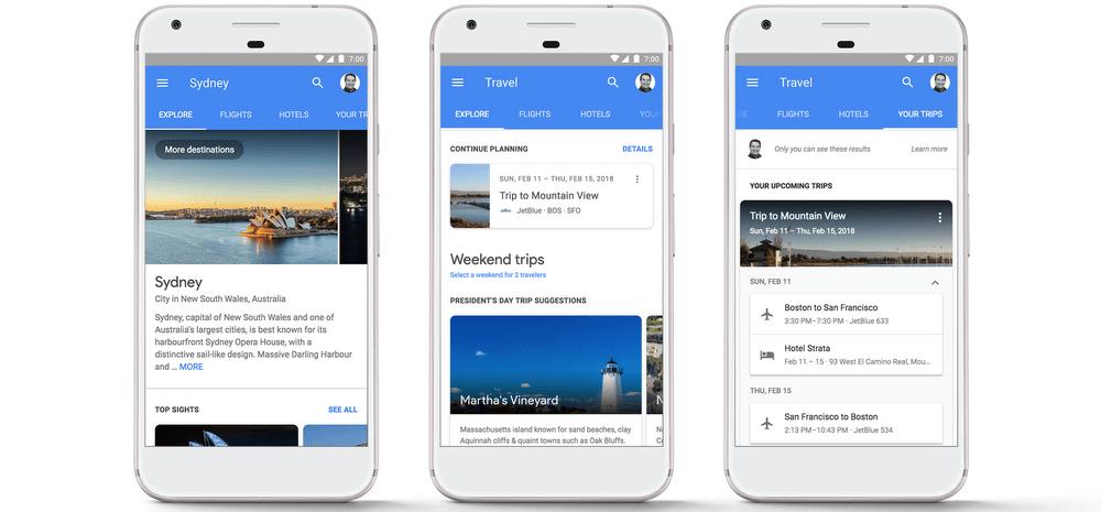 O Google está a revolucionar o mercado das viagens