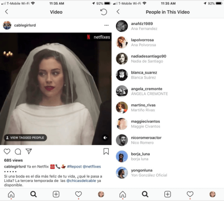 Vai ser possível marcar amigos em vídeos
