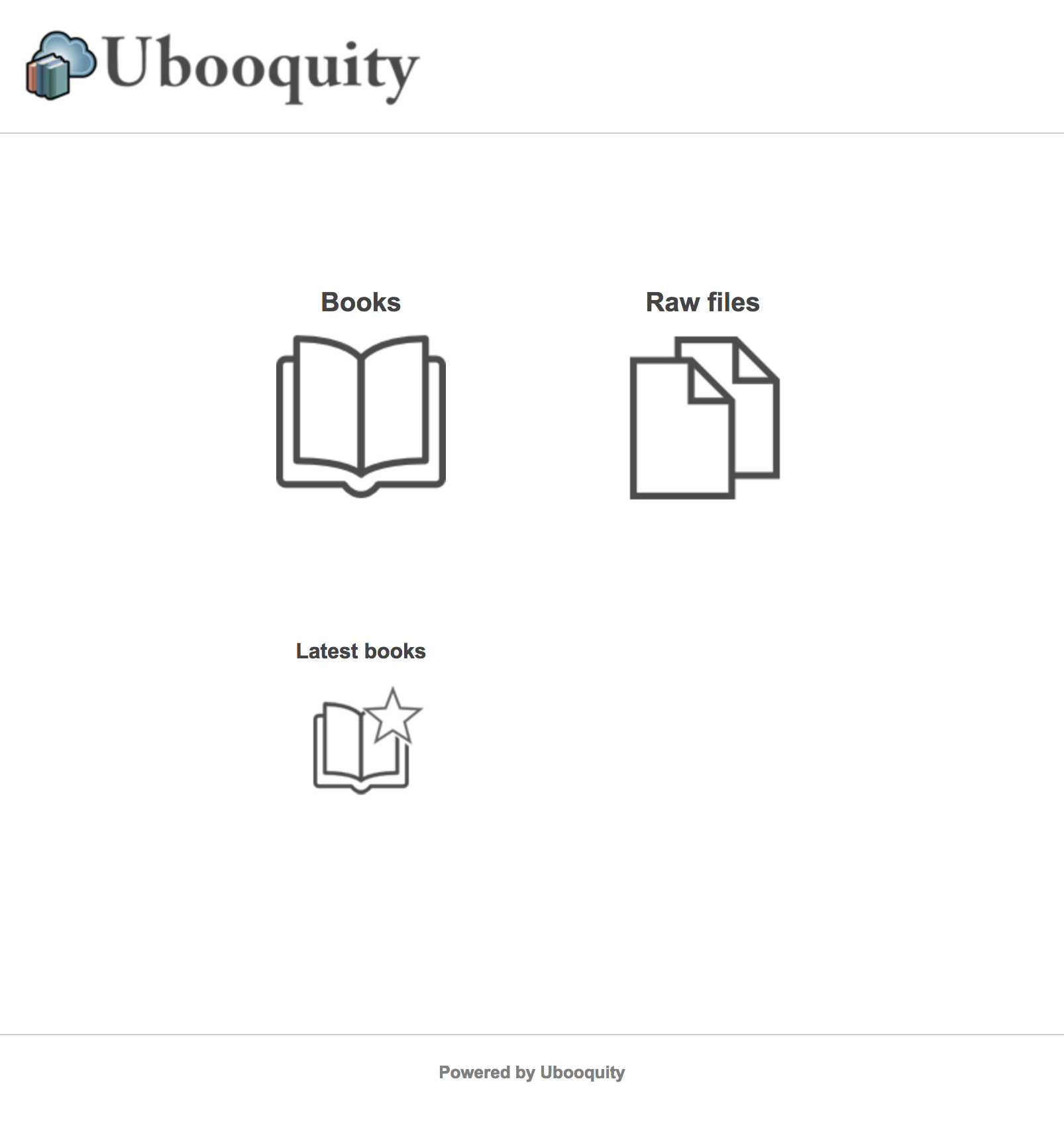 Ubooquity Interface