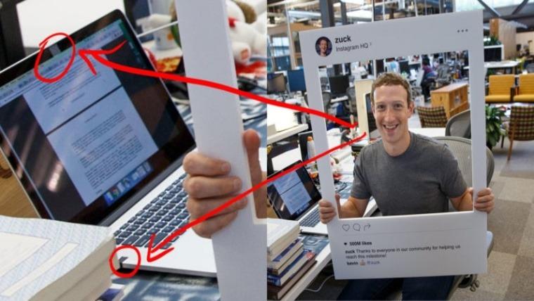 Dono Facebook tapa camera