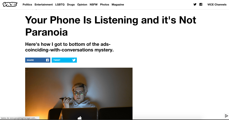 Vice Phone Listening