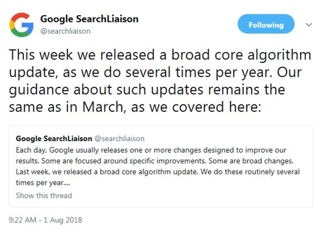 Google Tweet Algo Changes