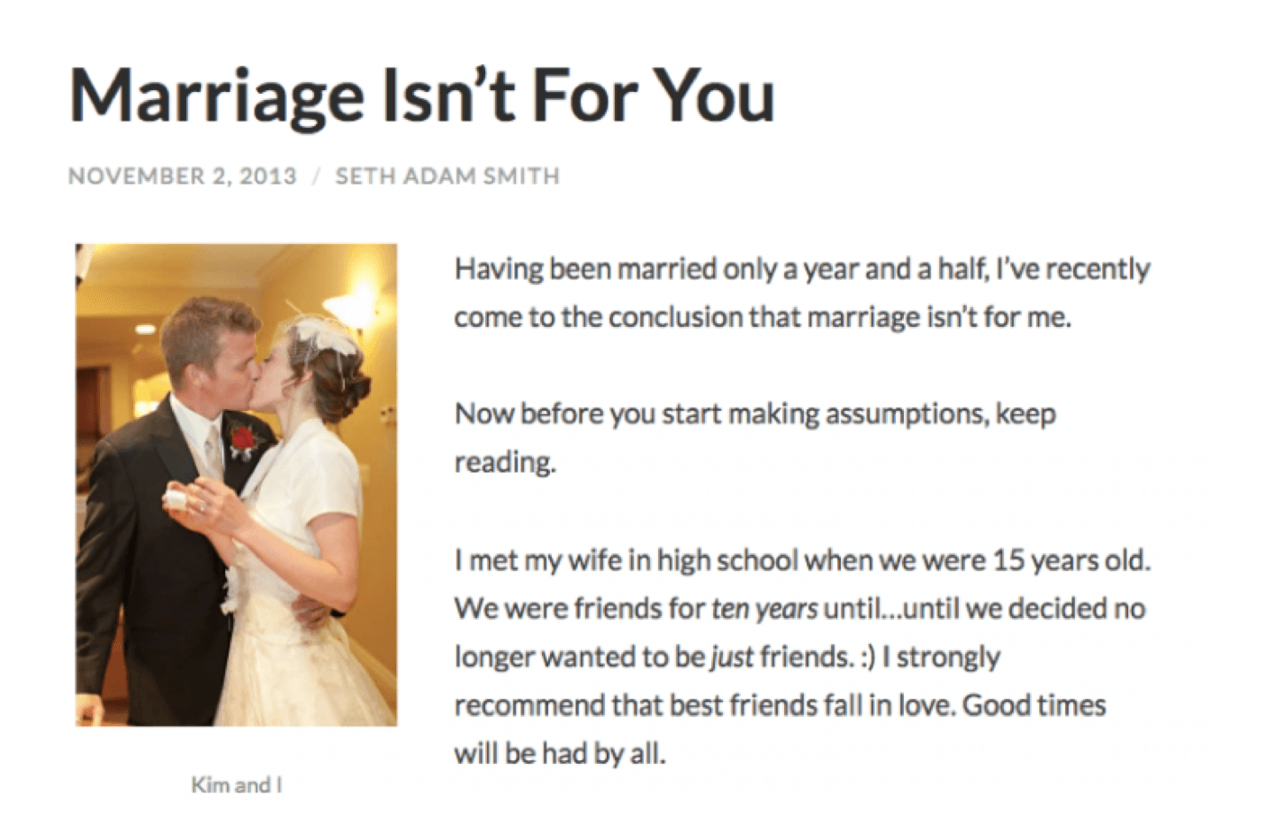 Marriage Blog