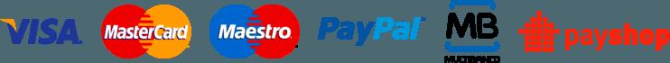 Paypal, Multibanco, VISA, euPagoAqui