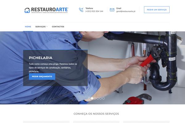 Restauro Arte Web Design Branding