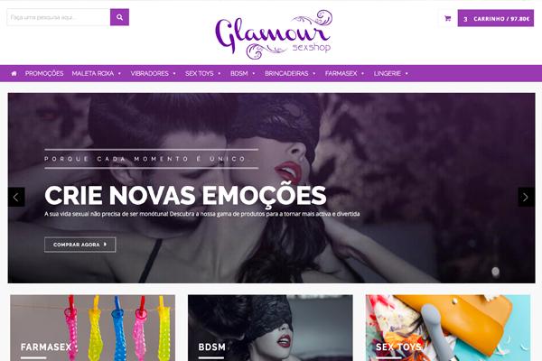 Sexshop Glamour Web Design Branding